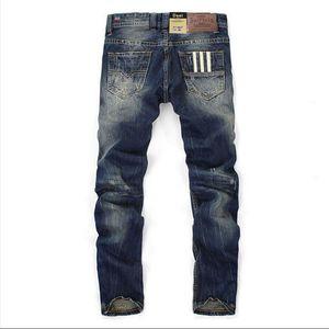 100% coton.Neign design Hommes Bleu Couleur Touches droites Fit Pantalons longs Qualité de la qualité Balplein Brand jeans Men29-42