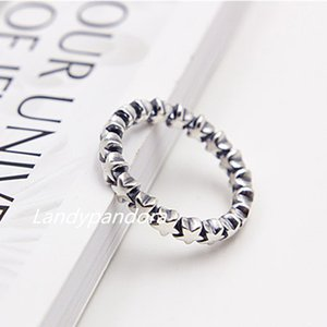 Fashion Ring 100% S925 Sterling Silver European Pandora Style Jewelry Charm Star Trail Ring Women Ring