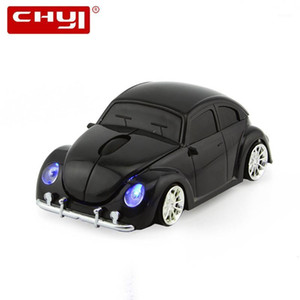 CHYI 2.4Ghz Car Wireless Mouse Mini Car Shape Computer Mice 1600 DPI USB Optical 3D Gaming Mause With Mouse Pad Kit For Gift PC1