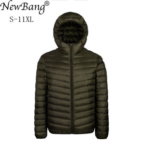 NewBang Plus 9XL 10XL 11XL Male Large Size 90% Ultra Light Down Jacket Men Lightweigh Warm Coat Hooded Feather Parka Q1119