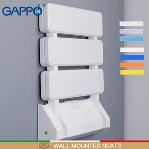 GAPPO Wall Mounted Shower Seats Plastic Folding Chair Bathroom Stool Taburete Durable Relax Chair Toilet Bench For Shower Z1130