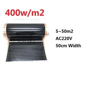 5~50m2 Infrared 400w m2 Carbon Heating Film AC220V Underfloor Mat Home Heater