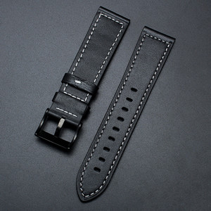 Free Shiping Genuine Cow Leather Watchband Series Men Top Quality Band Soft Watch Band Wrist Bracelet 22 24mm