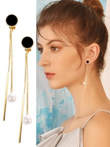 Fashion Long Clip On Earrings For Girls Wedding Party Jewelry Accessories New Chain Design No Hole Earing Women Gift