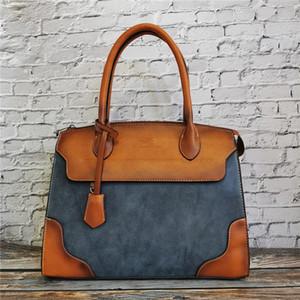 Vintage Design Frauen Geldbörsen und Handtaschen Hohe Qualität Leder Damen Schulter Messenger Bags Klassische Weibliche Große Casual Tote Q1129
