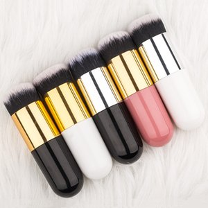 2020 New 1pc Professional Foundation Brush FIVE Color Makeup TOOL Flat Cream Makeup Brushes Cosmetic Make-up Brush