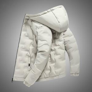 Hooded 2020 Men's White Duck Down Jacket Coat Casual Thick Warm Overcoat Winter Parkas Men Streetwear