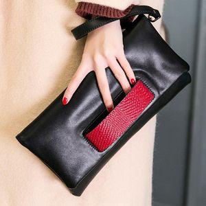 Women's Clutch Bag New Fashion Genuine Leather Handbag All-Matching Messenger Bag Women's Small Envelope Leather Handbag