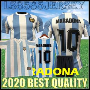 الرجعية 1986 Argentina Champion Edition Maradona Soccer Jersey 82 83 Newells أولاد أولاد 1981 Boca Juniors 87 88 نابولي نابولي قميص كرة القدم
