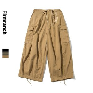 Firmranch New Spring Men Women Amekaji Oversize Casual INS Hot Wide legs Pants Cargo Loose American Causal Japanese Trousers