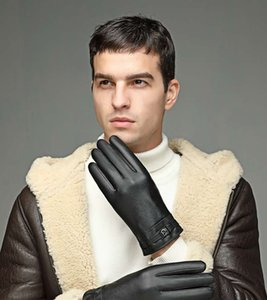 New men's leather gloves in winter full warm touch screen saver, velvet wind proof drive bike riders travel 2020 latest fashion PU gloves