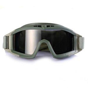 Forze speciali Outdoor Sandstorm Gogguls Tactical Goggles Esercito Fans CS Field Storm Glasses Glasses Glasses Occhiali da sole