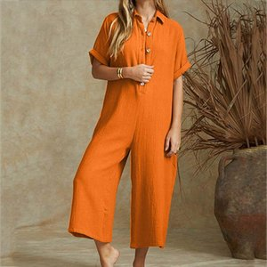 Womens Oversize Casual Solid Harem Pants Loose Trousers Women Jumpsuit Strapless Loose Party beach Jumpsuit Summer Overalls