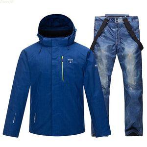 2020 New Ski Suit Men Winter Warm Windproof Waterproof Outdoor Sports Snow Jackets And Pants Male Ski Equipment Snowboard Jacket Z1128