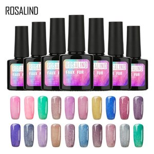 ROSALIND Gel 1S 10ML Colorful Faux Fur Effect Semi Permanent Nail Gel Polish Lacquer Nail Art UV LED Glitter Manicure