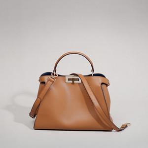 100% Натуральная кожа Женщины Tote Сумка Дизайнер вдохновил сумку на плечо Большая емкость Модный кошелек 2020 Q1119