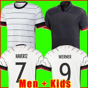 Allemagne 2020 Soccer Jersey Home Kit Hummels Kroos Draxler Reus Reus Muller Getze Getze Coupe de football Europe Chemises Uniformes Hommes + Enfants