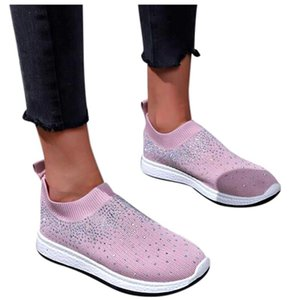 SAGACE Women Casual Shoes Fashion Breathable Walking Mesh Lace Up Flat Shoes Sneakers Women 2020 Tenis Feminino Beige Pink 1209
