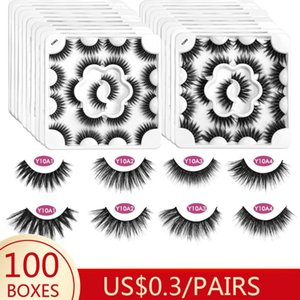 Wholesale 3D Mink Eyelashes Natural Thick Eyelashes HandMade Full Strip Lashes Volume Soft Mink Lashes False Extension