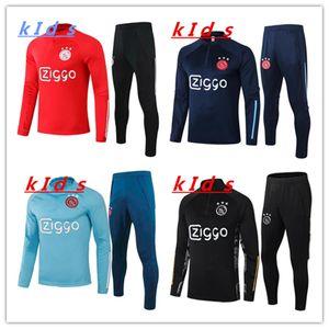 KIDS 2020/21 AJAX FUTBER ENTRENAMIENTO SUIT 2020 2021 AJAX Chandal Futbol Maillot de Foot Neres Ziyech Soccer Boys Ajax Jogging Thicksuit