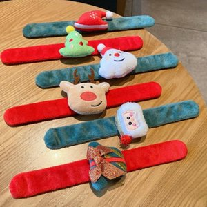 Christmas Decorations Snap Ring Plush Hair Ring Cute Hair String Bracelet Dual-Use Rubber Band Boys Wrist Boyfriend