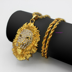 New Overbearing Lion Head Necklace Pendant HIPHOP Hip-hop Choreographer
