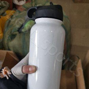 32oz Sublimación Vaso de acero inoxidable Botella de agua Doble vacío Sippy Taza Deportes al aire libre Beber Vaso Cyz2972 Envío de mar