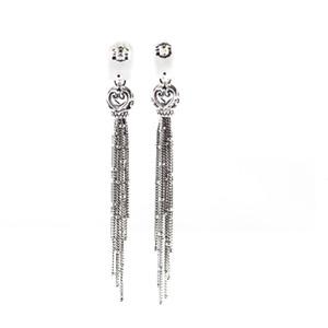 Genuine 925 Sterling Silver Earrings Enchanted Tassels Drop Earrings for Women Fine Jewelry berloques brincos Wholesale Z1128