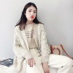 Camicette e donne Autumn New Lymph Knitting Pattern Woman Cardigan Coat Cardigan Maglione sciolto RHSI