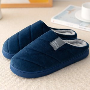 Women Indoor Slippers Large Size 43-47 Suede TPR Soft House Slippers Ladies Short Plush 6 Colors Home shoes Woman 201124