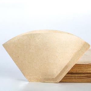 40pcs / sac en bois Original Hand Decor Café Filtre à café Espresso Filtres à café Eco-respectueux de la catégorie Négociée non blanchie SML