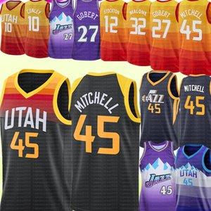2021 Donovan 45 Mitchell UtahJazzJersey NCAA RUDY 27 Gobert 10 Conley John 32 Malone 12 Stockton Basketball Jerseys