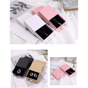 Cajas de joyas Día de San Valentín Regalos de embalaje Caja de embalaje Anillo Pendientes Pendientes de embalaje Caja de cajón Joyería 9 * 9 * 3.2cm FFF4643