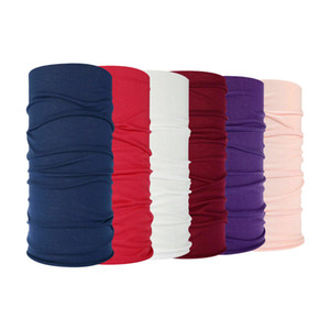 17 Solid Colors Seamless Bandana Magic Scarf Headwear Head Wrap Neck Gaiter Cycling Neck Tube Multifunction Headband 100 pcs
