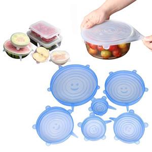 Многофункциональный 6 пакет кремниевая еда крышка крышки чаша с различными размерами, пищевой силиконовой силиконовой весточной кладовой. Организатор