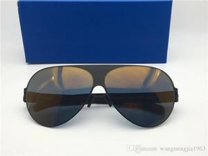 Nuevos hombres Gafas de sol Ultralight Frame sin tornillos Franz Marco piloto con lente espejo Ultralight Marco de memoria Gafas de sol de gran tamaño