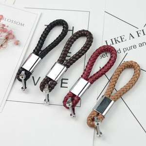 PU Leather Keychain Holder Mobile Phone Charm Braided Woven Rope Key Chain Handmade Pendant Car DIY for Men and Women Handbag