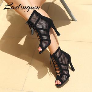 Ladingwu Nuevas Botas Latinas Ladies Girls Salsa Tango Interior Deportes Profesionales Ballroom Zapatos C1120