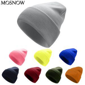 Knitted Winter Solid Warm Beanies Unisex Cap Casual Hat For Men Women Fashion Hip-Hop Spring Autumn Bonnet Adult Skullies