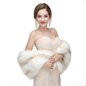 Gelin Kış HS Şal Bolero Sıcak Faux Düğün Akşam Parti Elbise Sarar Kürk Omuz Kapaklar Düştü Hochzeit Utxw