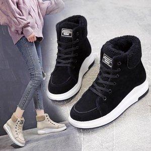 Women's Boots Autumn Female Shoes Round Toe Boots-Women Lace Up Winter Footwear Platform Luxury Designer Rubber Ladies