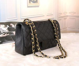 Luxurys Designers sacos de couro genuíno ombro seis cor caviar diamante lattice bolsa acolchoada saco