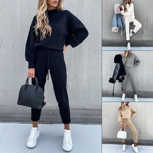 2 Piece Set Womens Outfits Autumn Long Sleeve Tracksuits Ladies Lounge Wear Joggers Active Sports Pyjamas