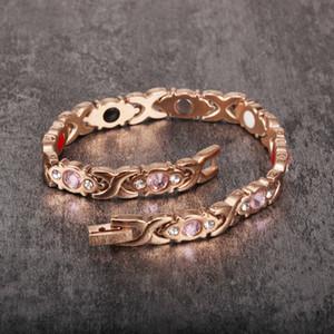 Vinterly Energy Magnetic Bracelets for Women Health Rose Gold Color Bracelet Femme Stainless Steel Chain Link Bracelets Bangles Y1125