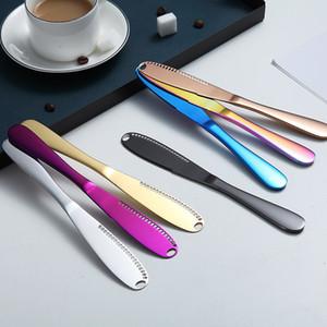 الفولاذ المقاوم للصدأ زبدة سكين الجبن الحلوى مربى الفيدرز كريم سكاكين أدوات المائدة الجبن سكين مع ثقوب الأطباق السكاكين LLS181
