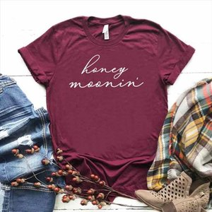 Honeymoon Print Women tshirt Cotton Casual Funny t shirt Gift For Lady Yong Girl Top Tee Drop Ship S 762