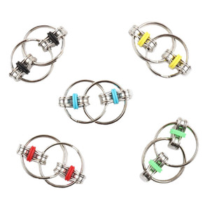 Anahtarlık Fidget Spinner Gyro El Spinner Metal Oyuncak Parmak Anahtarlık Zincir Handspinner Oyuncaklar Dekompresyon Anksiyete Azaltmak için FY9379