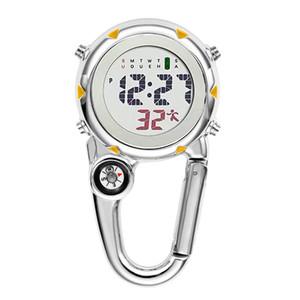 Digital Carabiner Clip Sport Hook Clock Hospital Gift Electronic Luminous Multi-function Fob Nurse Watch Outdoor Sport Watch Q sqcSaP