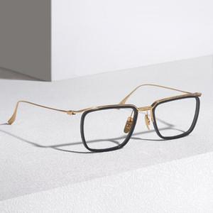 Moda Güneş Gözlüğü Çerçeveleri Marka Tasarım Alaşım Asetat Kare Optik Gözlük Erkekler için Hafif kadın Gözlük Çerçeve Klasik Rectan