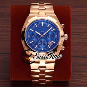 Продажа новых зарубежных 5500V / 110A-B148 синий циферблат A2813 Автоматические мужские часы Rose Gold Bracete STVC (без хронографа) STVC Gents Часы SwissStime